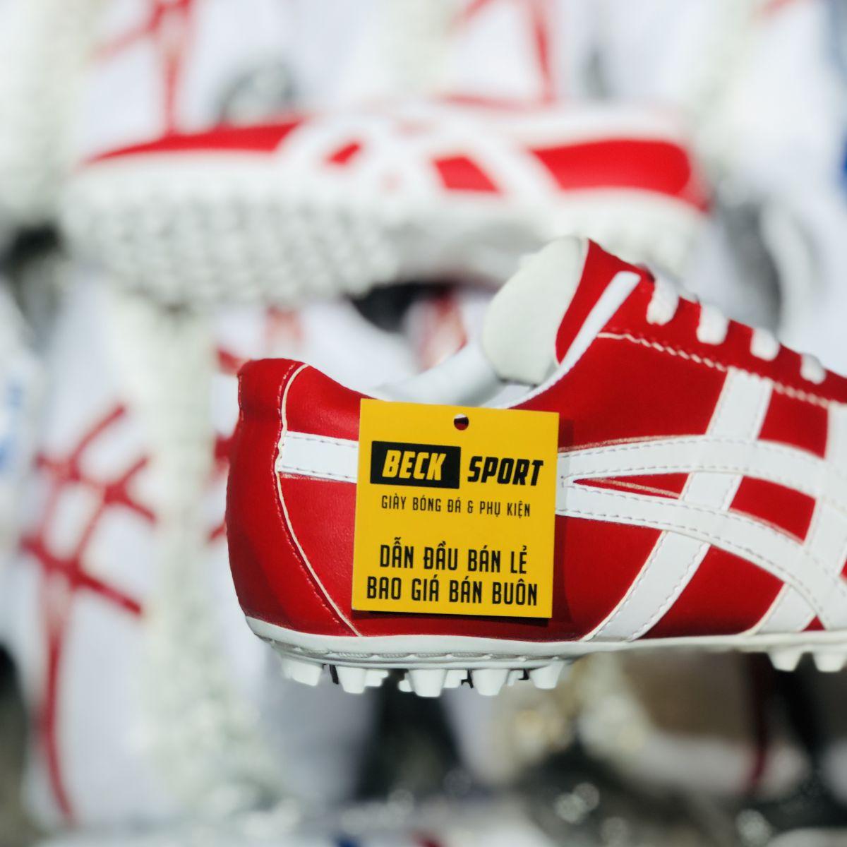 Giày Phủi Onisuka Tiger Loại 1 - Beck Đỏ Sọc Trắng