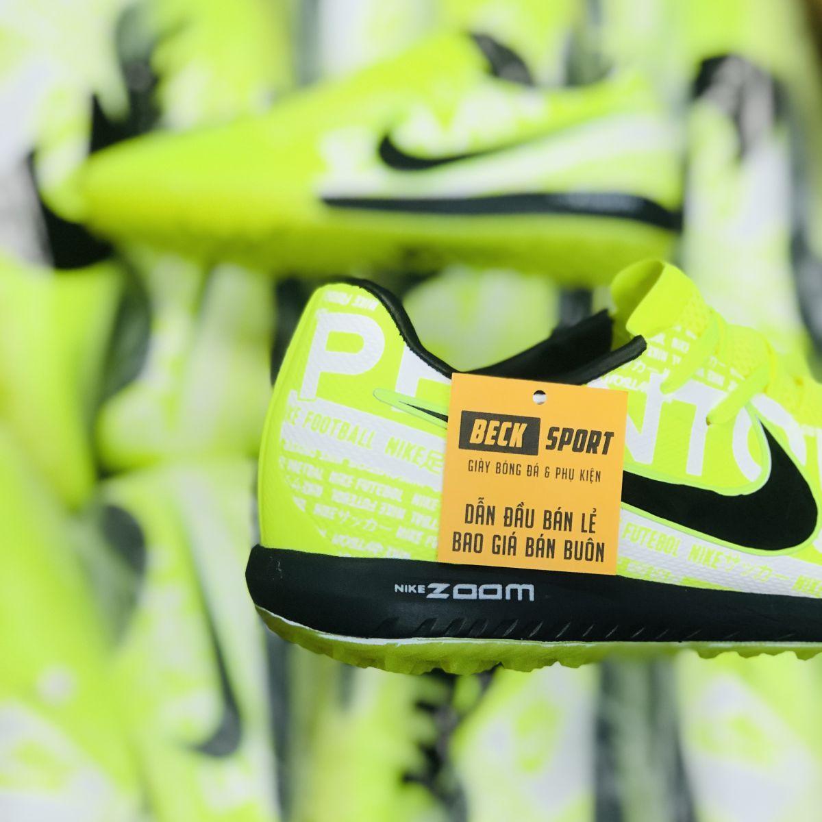 Giày Bóng Đá Nike Zoom Phantom VNM Pro Nõn Chuối Vạch Đen Giấu Dây TF