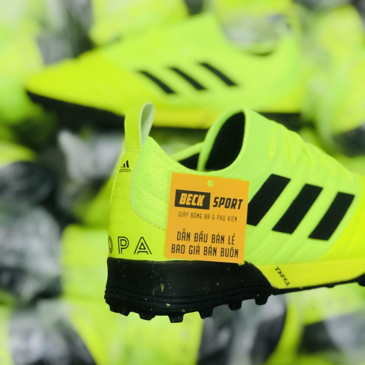 Giày Bóng Đá Adidas Copa 19.1 Nõn Chuối Vạch Đen Da Thật TF