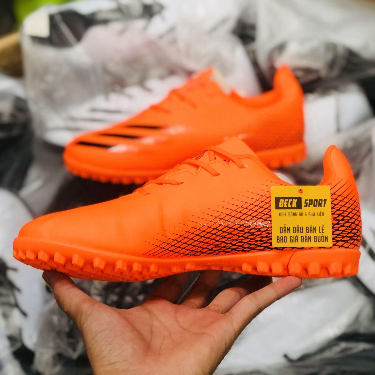 Giày Bóng Đá TQ Adidas X Ghosted.4 Cam Vạch Đen TF