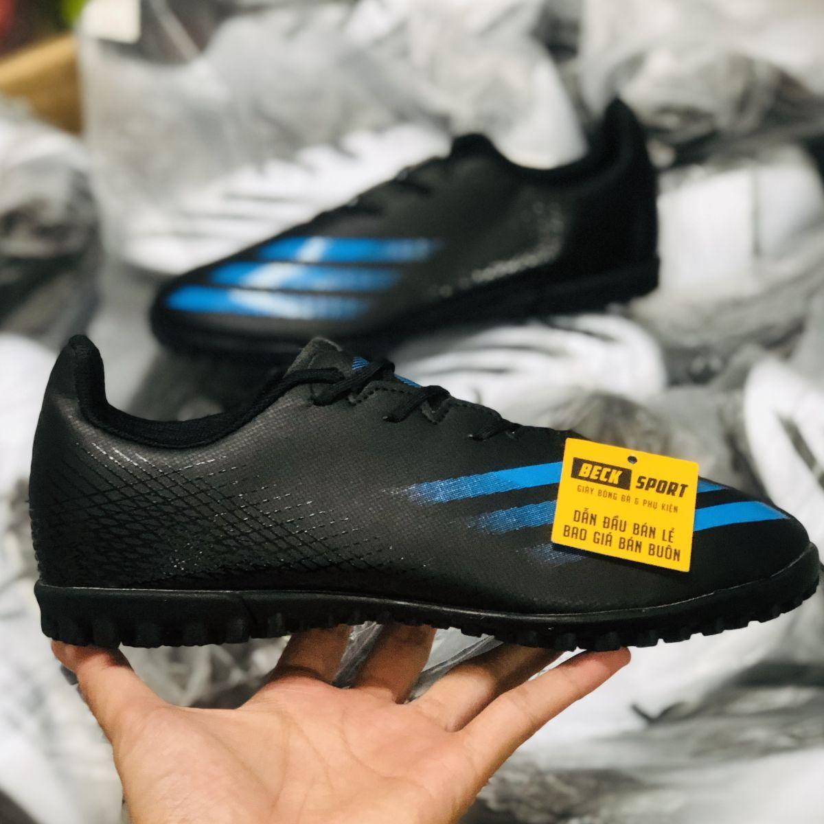 Giày Bóng Đá TQ Adidas X Ghosted.4 Đen Vạch Xanh Than TF