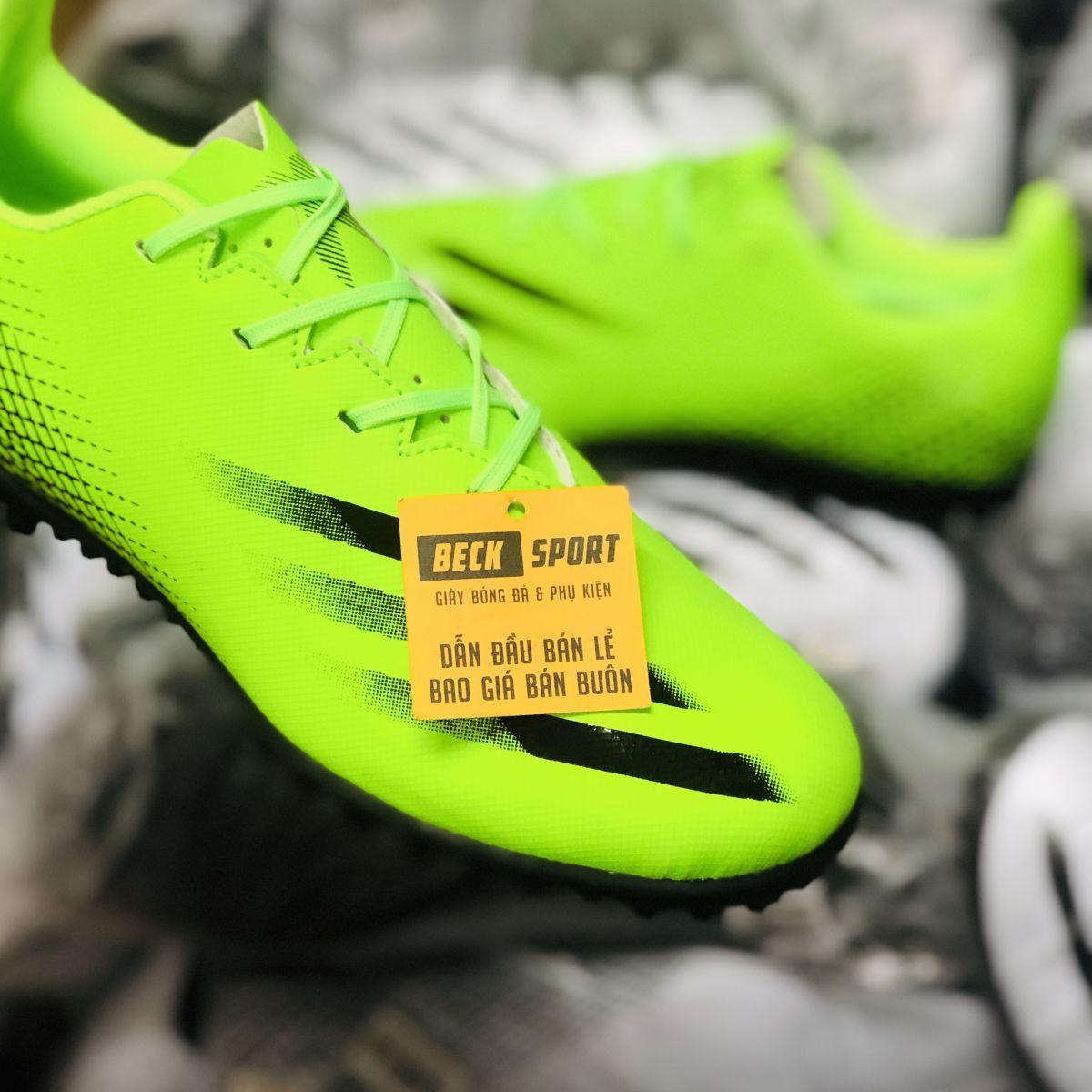 Giày Bóng Đá TQ Adidas X Ghosted.4 Xanh Lá Vạch Đen TF