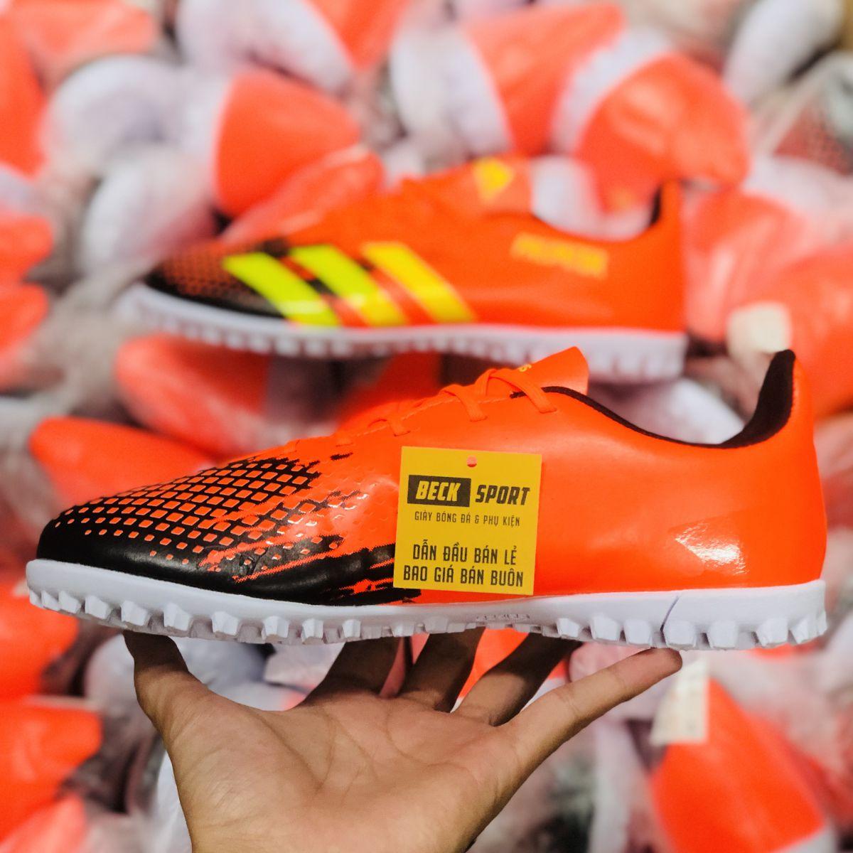 Giày Bóng Đá Adidas Predator 20.3 Cam Mũi Đen Vạch Vàng V2 TF