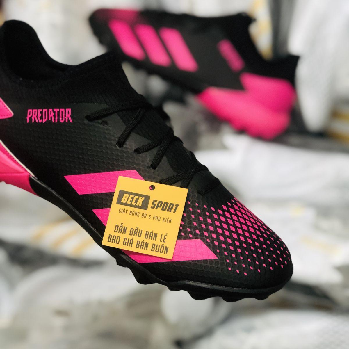 Giày Bóng Đá Adidas Predator 20.3 Đen Vạch Hồng Cổ Lửng TF