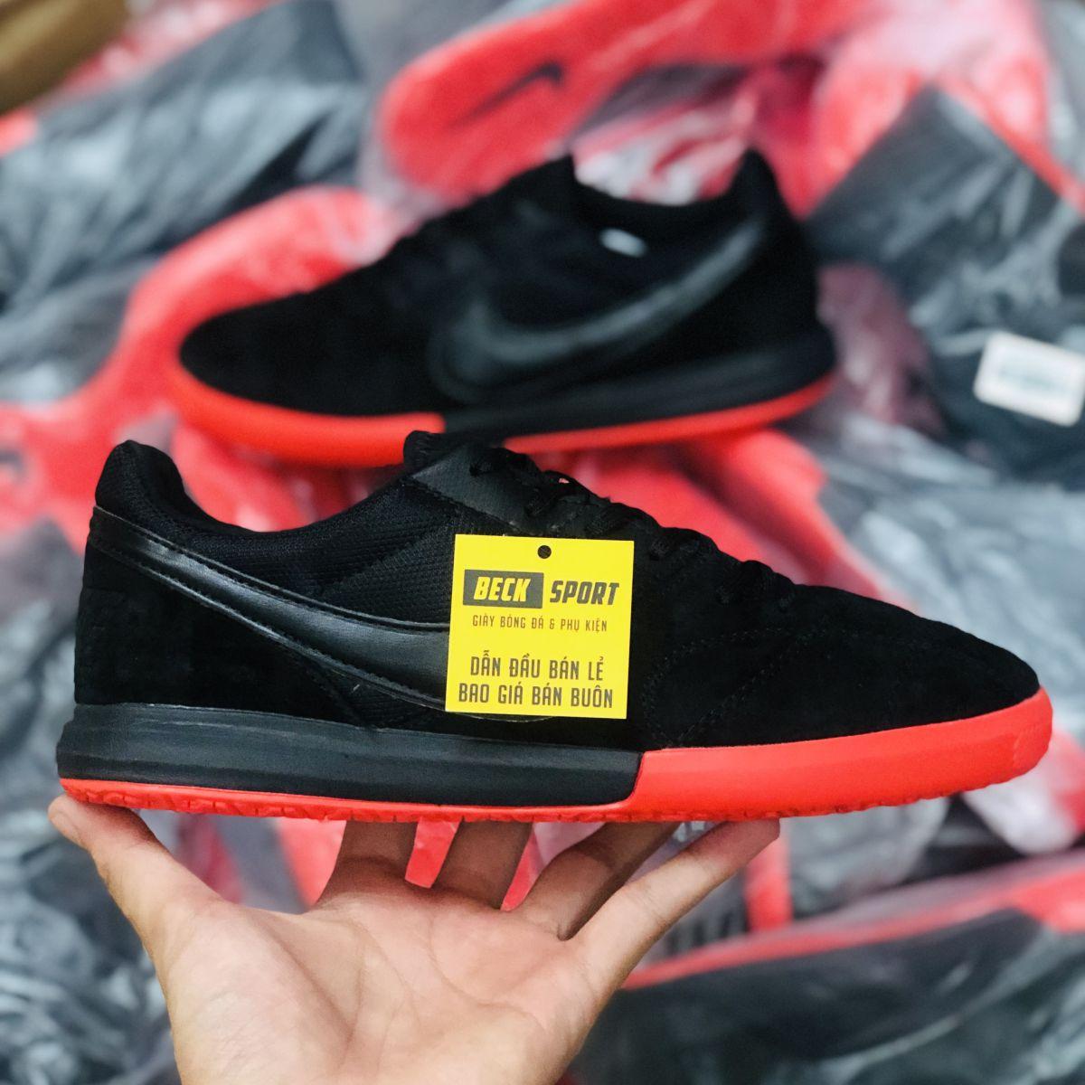Giày Bóng Đá Nike Premier II Sala Đen Đế Đỏ IC