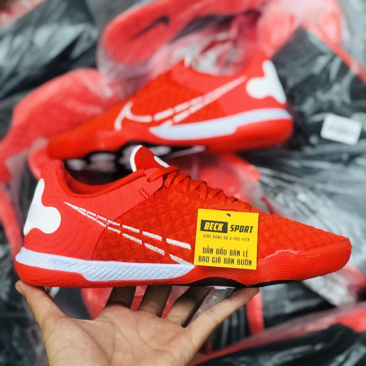 Giày Bóng Đá Nike React Gato Đỏ Vạch Trắng IC