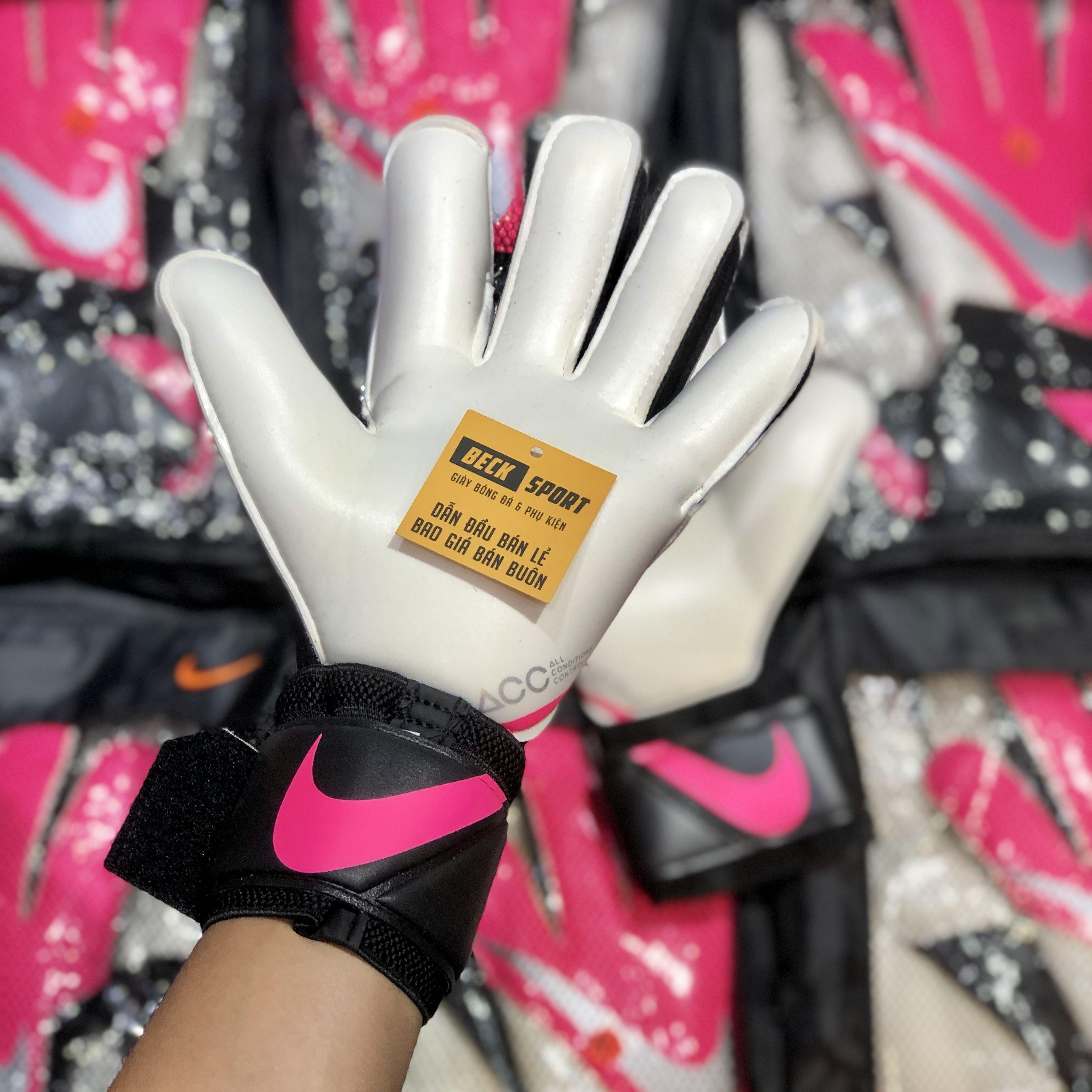 Găng Tay Nike Vapor Grip 3 Hồng Đen Vạch Xám ( Không Xương )