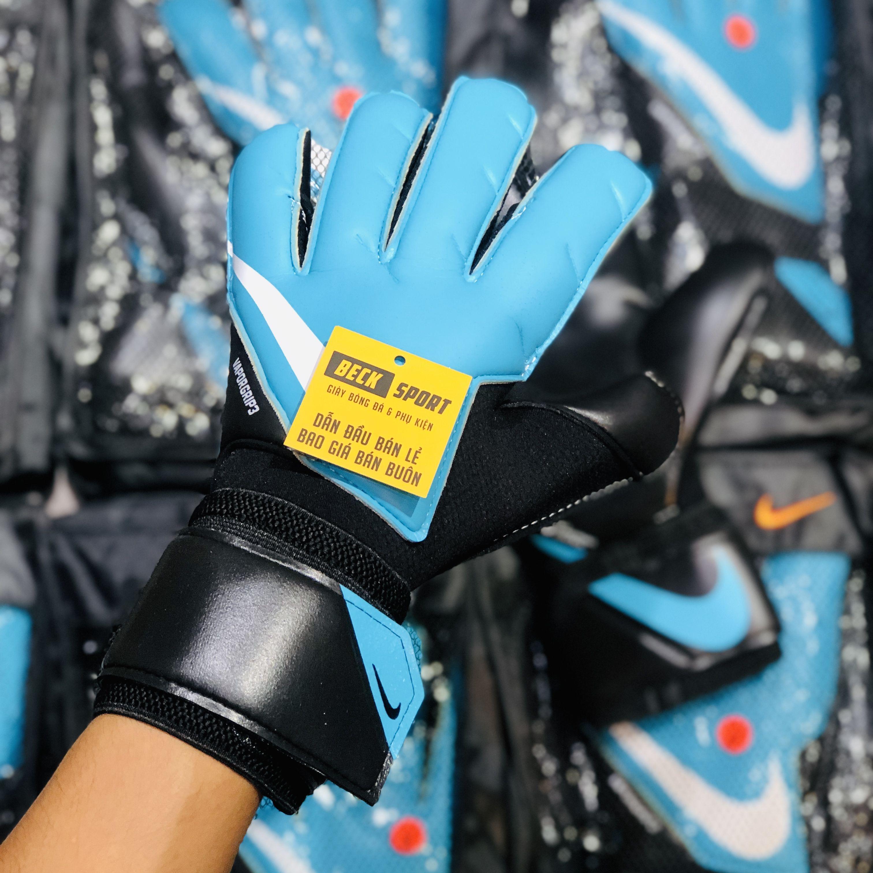 Găng Tay Nike Vapor Grip 3 Xanh Biển Đen Vạch Trắng ( Không Xương )