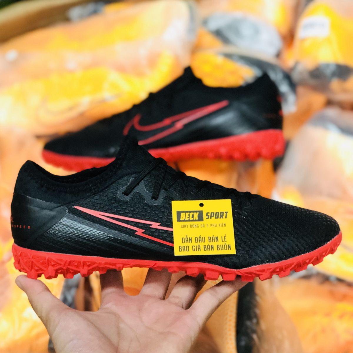 Giày Bóng Đá Nike Mercurial Vapor 13 Pro Đen Đế Đỏ Cổ Lửng TF