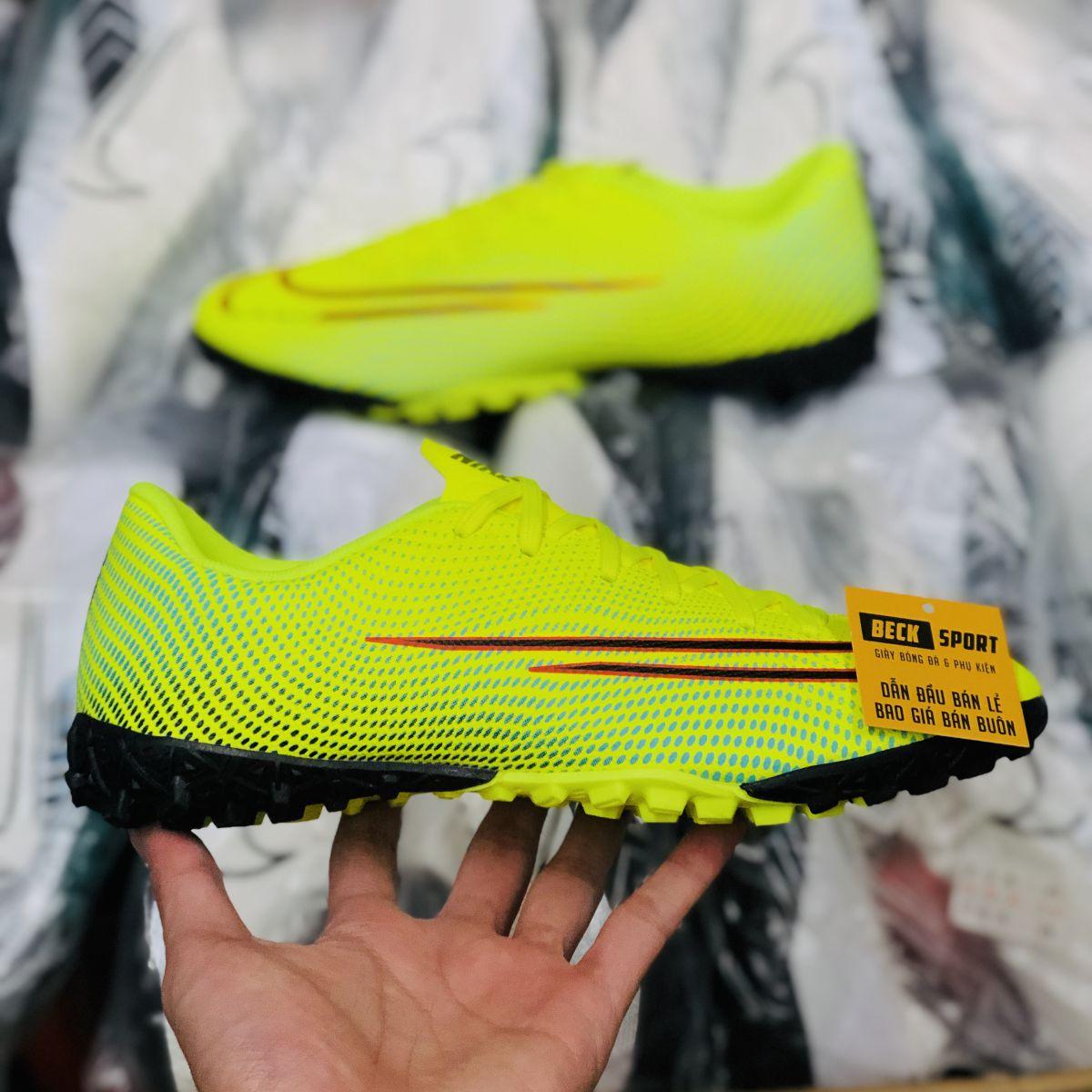 Giày Bóng Đá Nike Mercurial Dream Speed 13 Academy Nõn Chuối Xanh Ngọc Vạch Đen TF