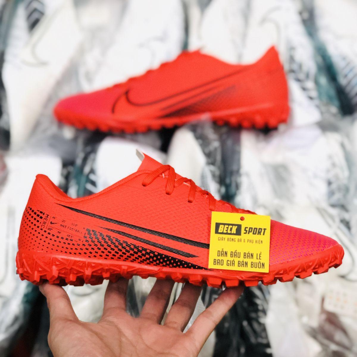 Giày Bóng Đá Nike Mercurial 13 Academy Đỏ Vạch Đen TF