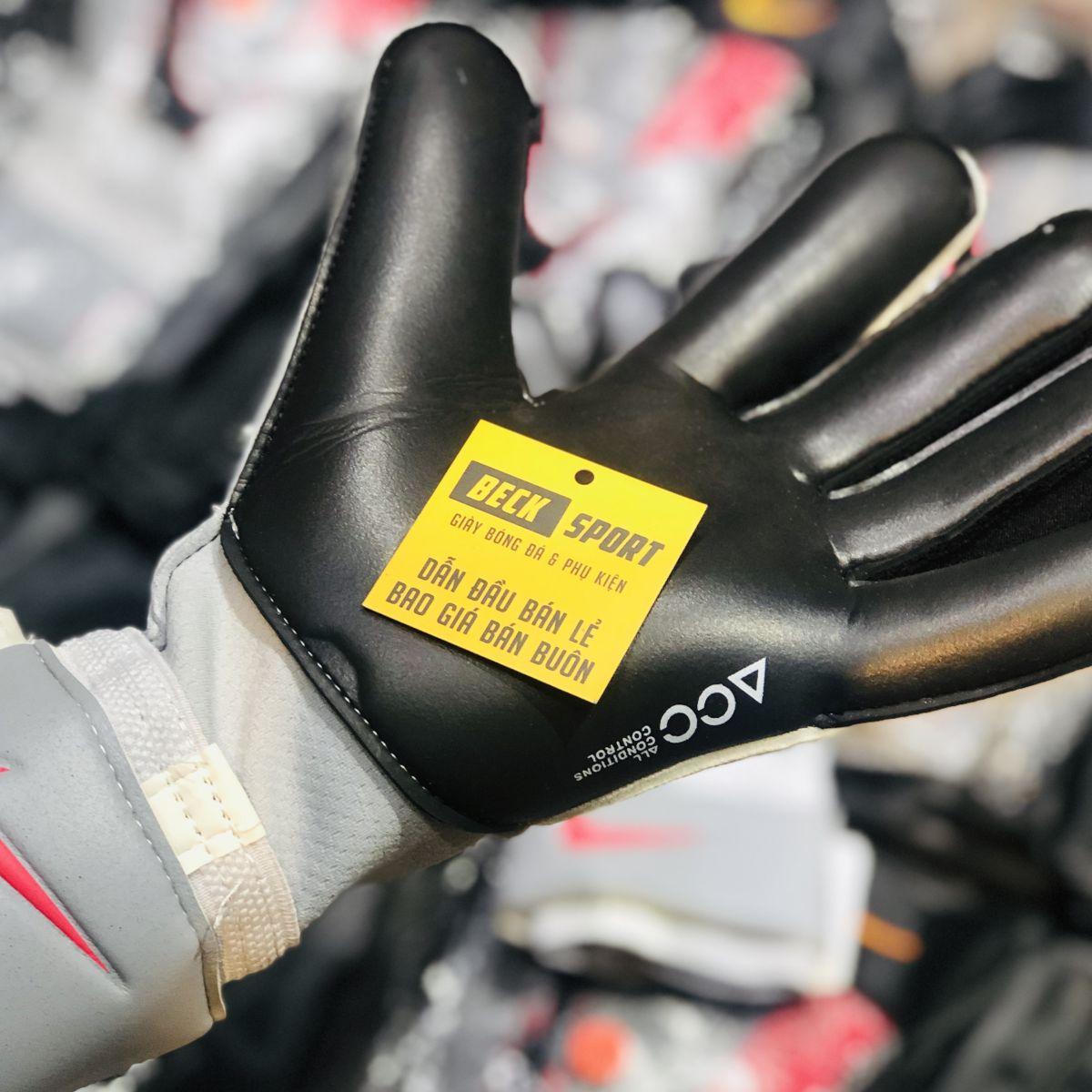 Găng Tay Nike Vapor Grip 3 Xám Vạch Đen ( Không Xương )