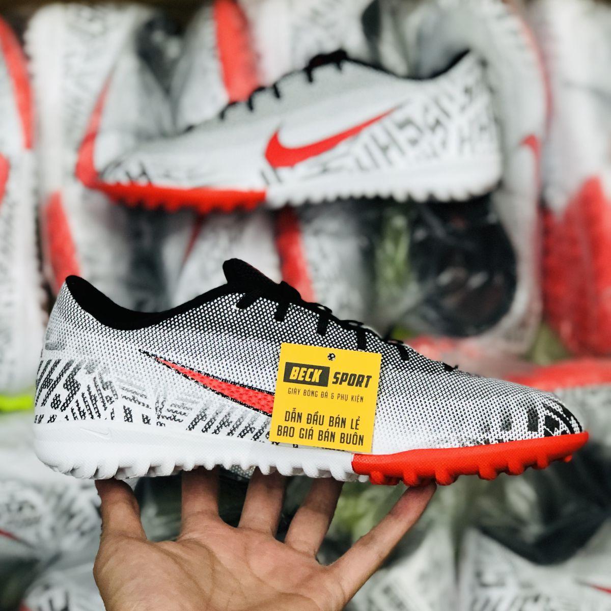 Giày Bóng Đá Nike Mercurial Vapor 6 Academy Neymar Trắng Đen Vạch Đỏ TF
