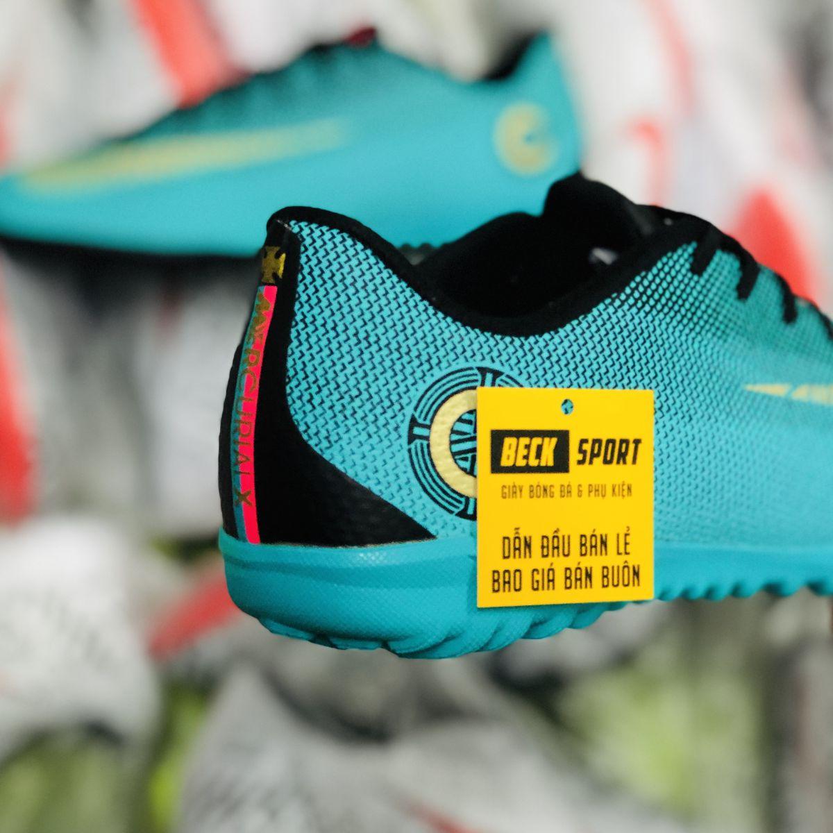 Giày Bóng Đá  Nike Mercurial Vapor 6 Academy CR7 Xanh Lá Đen TF