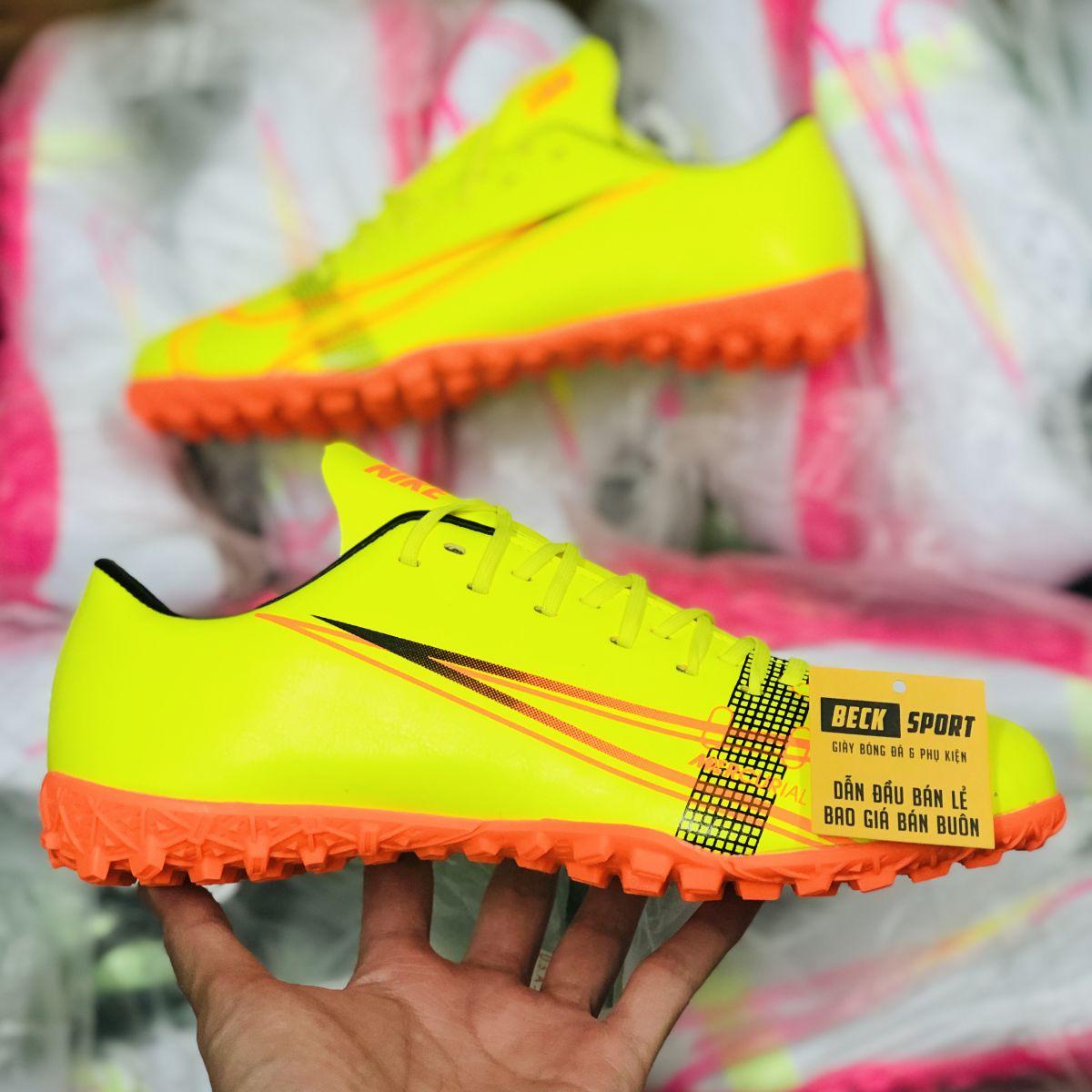 Giày Bóng Đá Nike Mercurial 14 Vàng Đế Cam TF