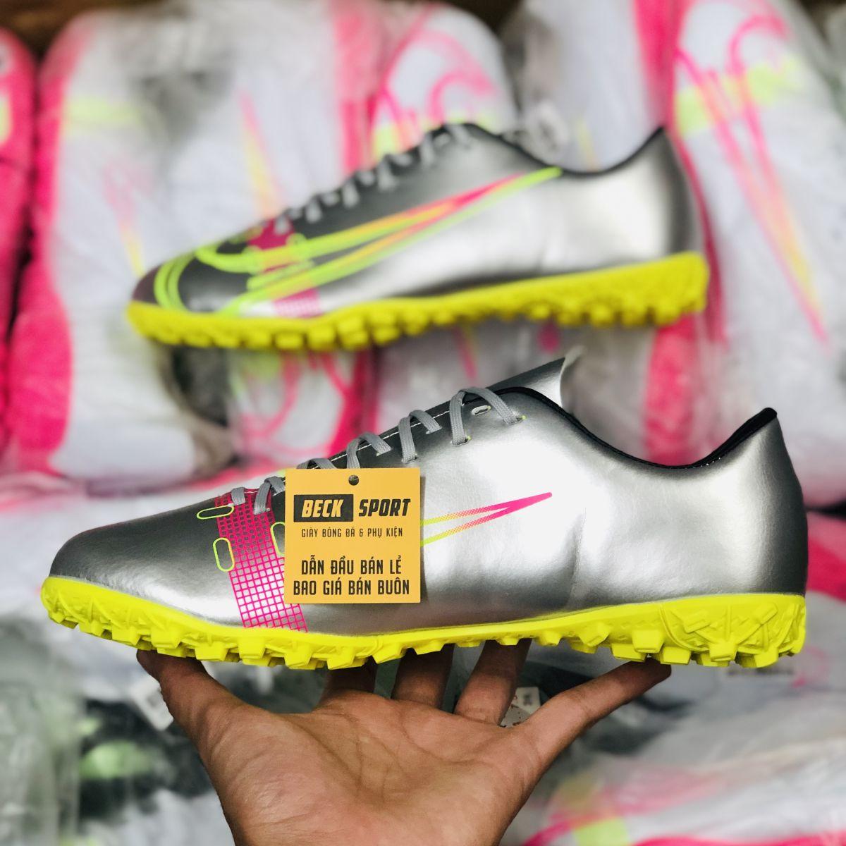 Giày Bóng Đá Nike Mercurial 14 Xám Đế Vàng TF