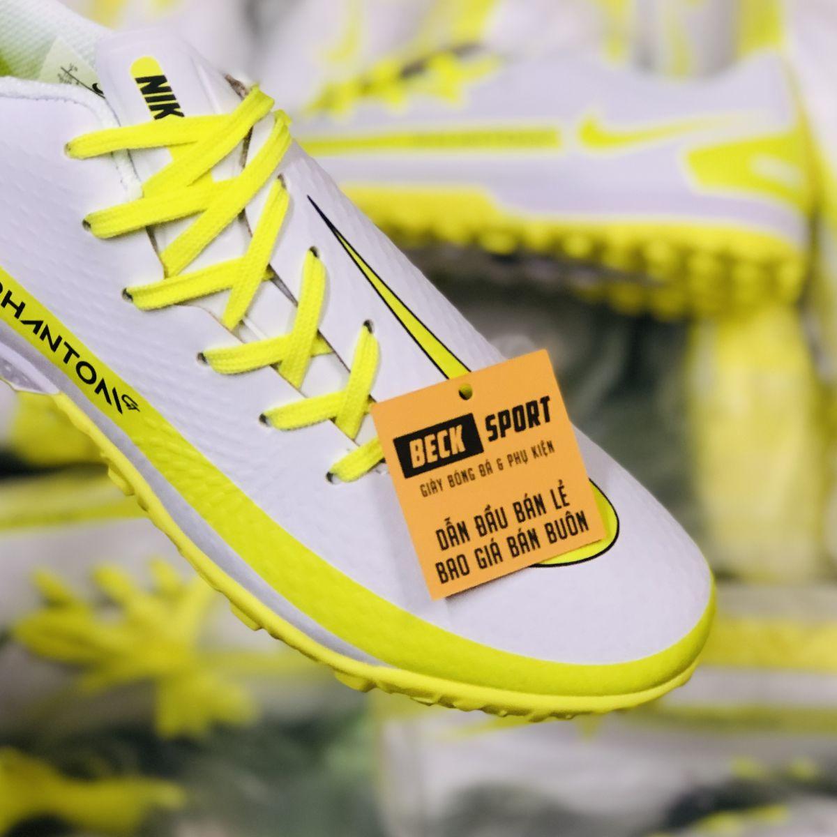 Giày Bóng Đá Nike Phantom GT Trắng Đế Vàng TF