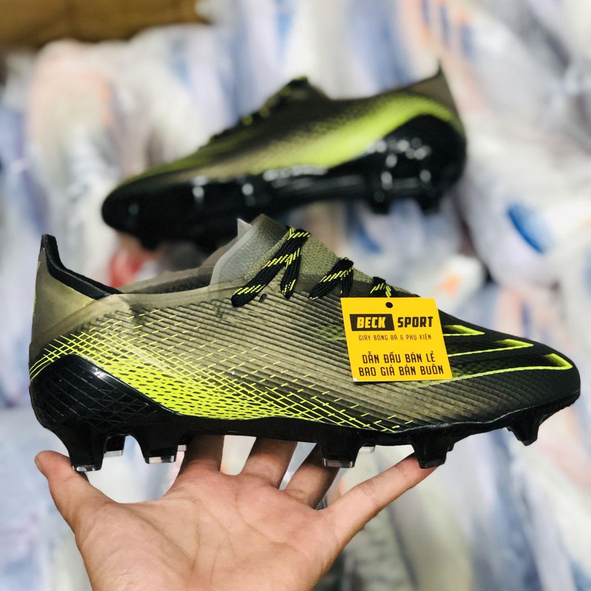 Giày Bóng Đá Adidas X Ghosted.1 Đen Vạch Chuối FG