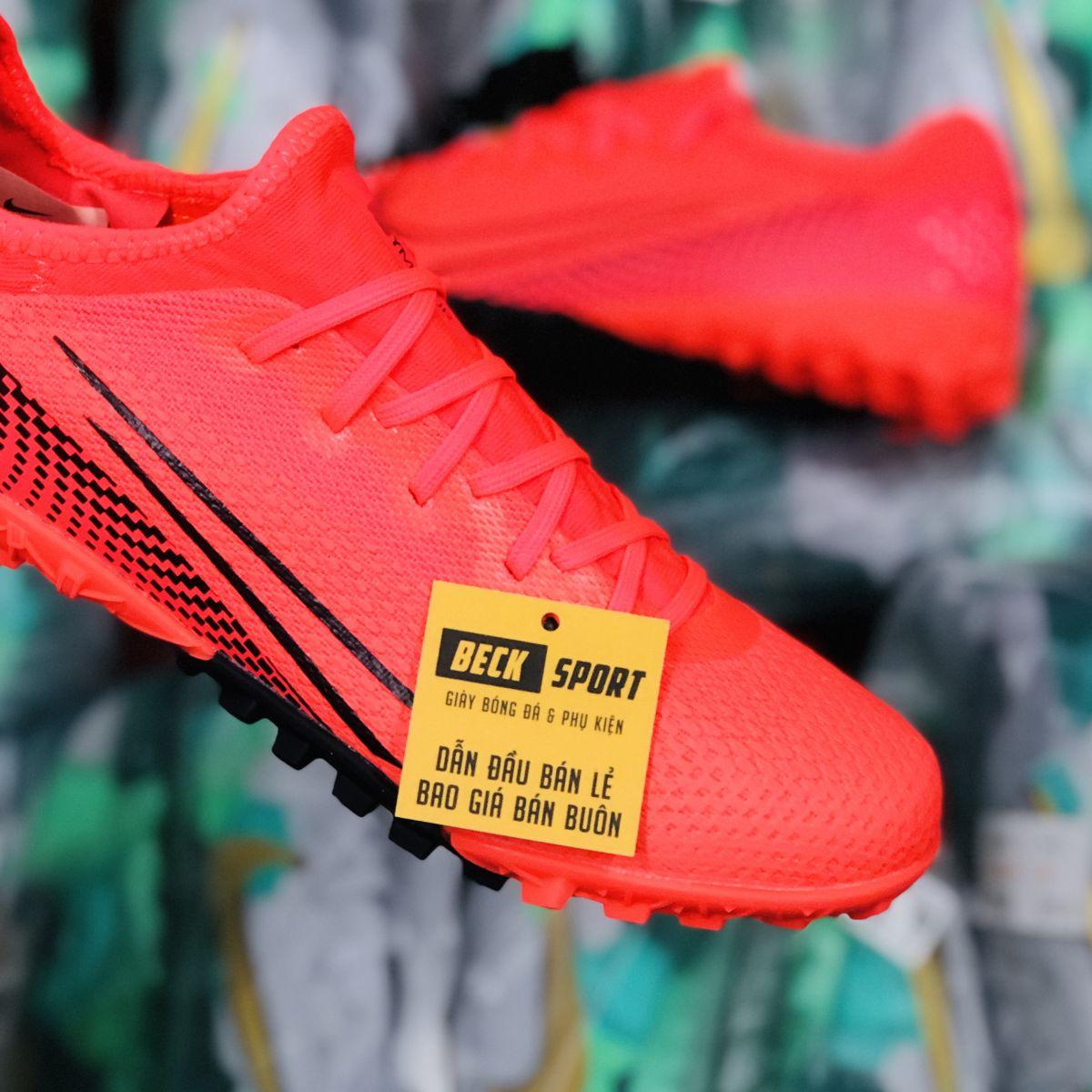 Giày Bóng Đá Nike Mercurial Vapor 13 Pro Đỏ Vạch Đen TF