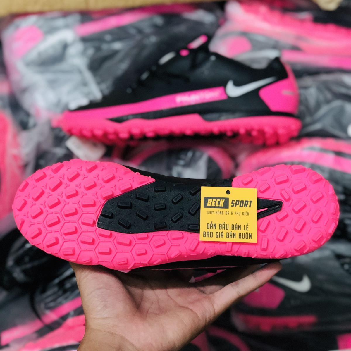 Giày Bóng Đá TQ Nike Phantom GT Academy Đen Hồng Vạch Xám TF
