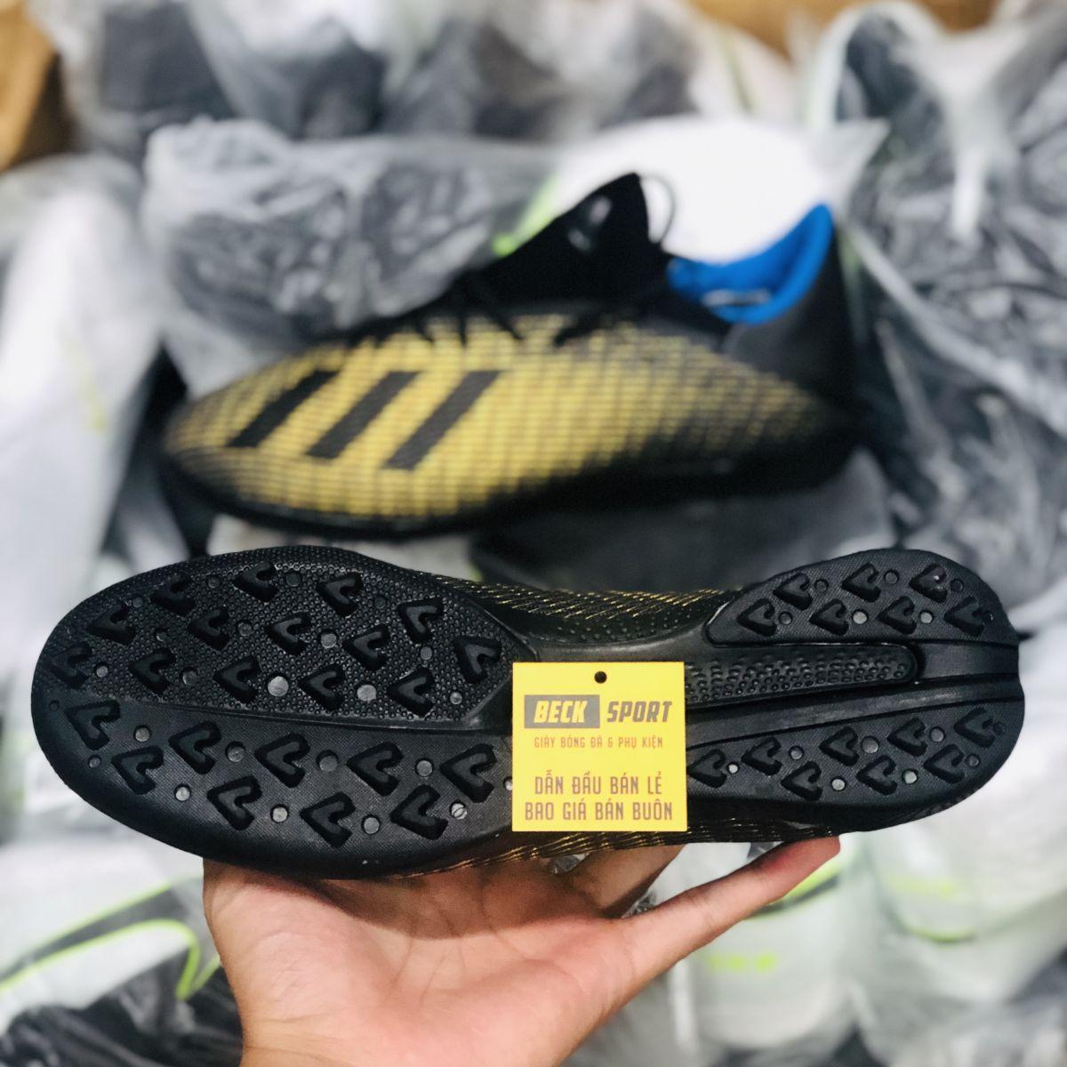 Giày Bóng Đá Adidas X 19.3 Đen Đồng TF