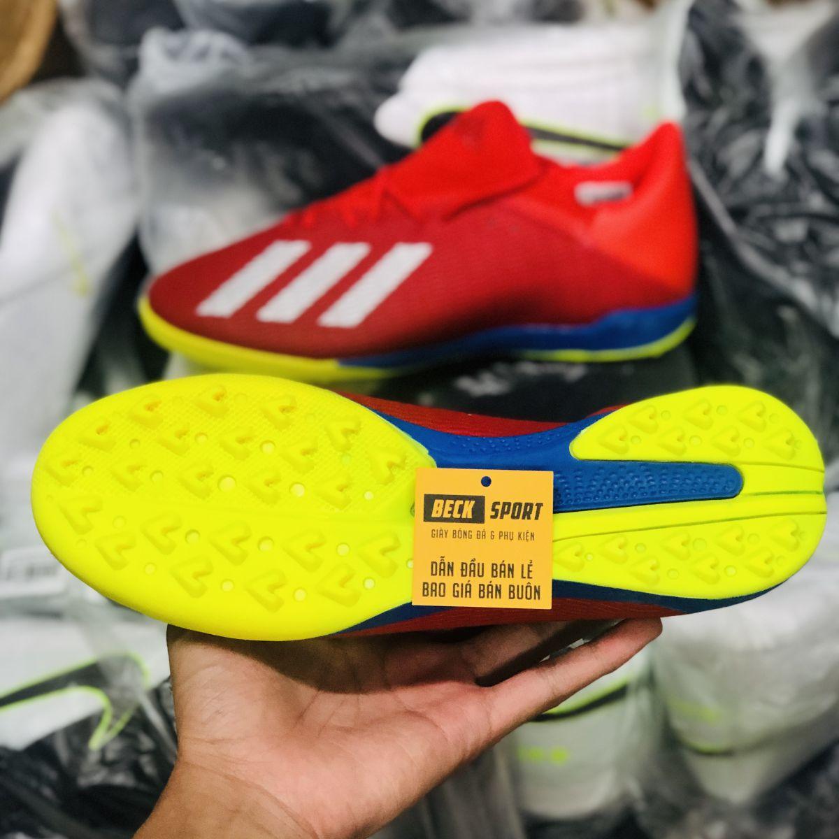 Giày Bóng Đá Adidas X 19.3 Đỏ Vạch Bạc Đế Chuối TF