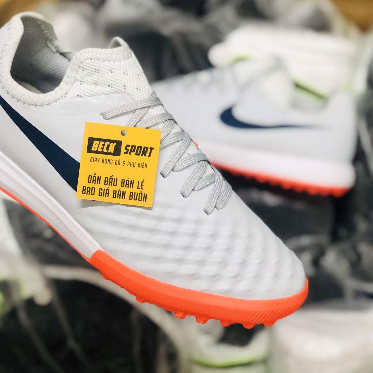 Giày Bóng Đá Nike Magista Finale Trắng Cam Cổ Lửng TF