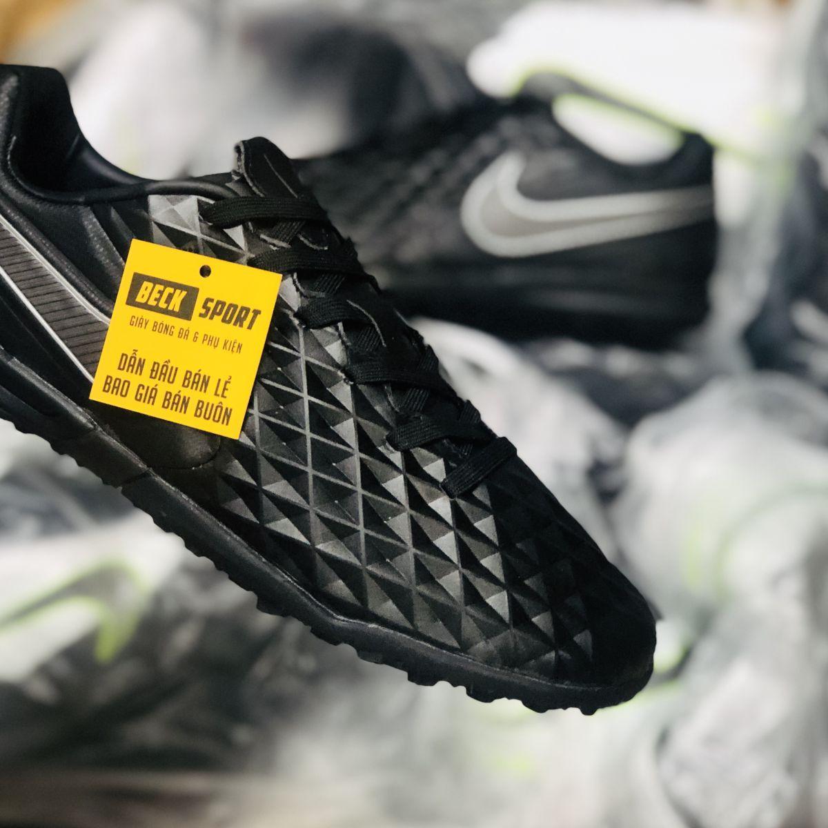 Giày Bóng Đá Nike Tiempo Legend 8 Pro Đen Tuyền HQ TF