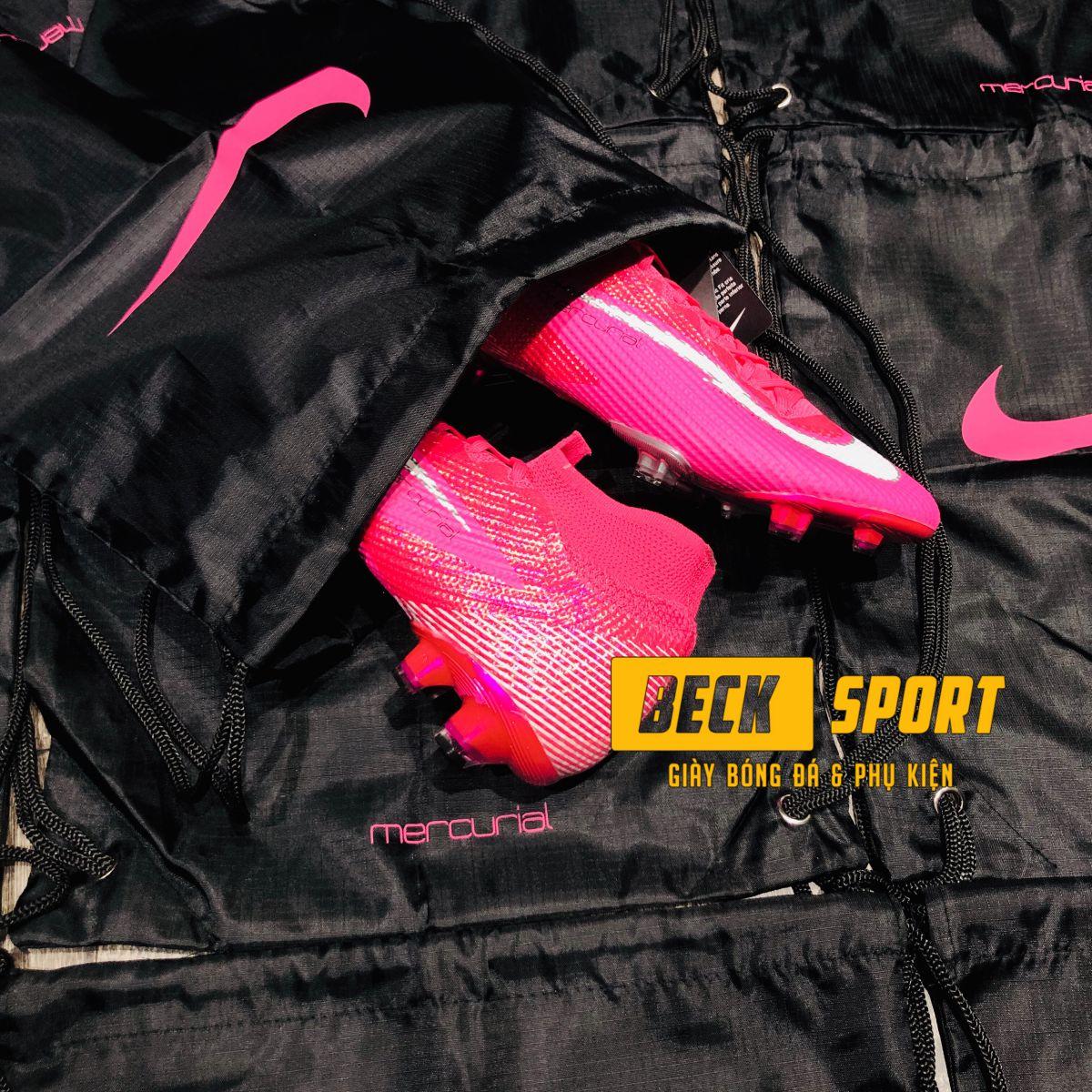 Túi Rút Gymsack SF Nike Mercurial Mbappe - Đen Hồng