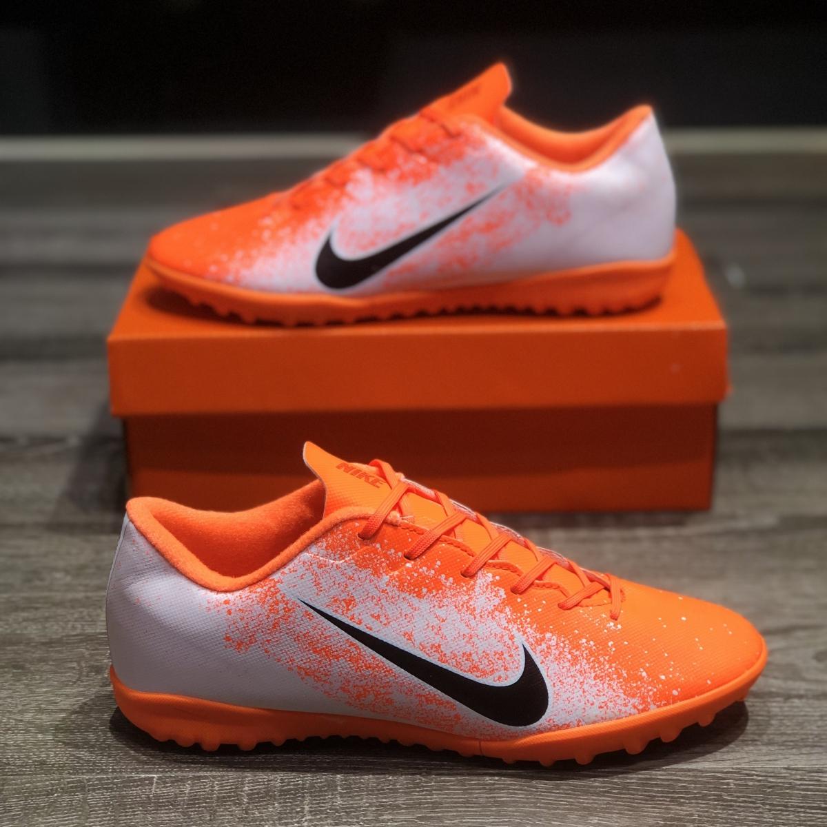 Giày Bóng Đá Trẻ Em Nike Mercurial Academy Trắng Cam TF