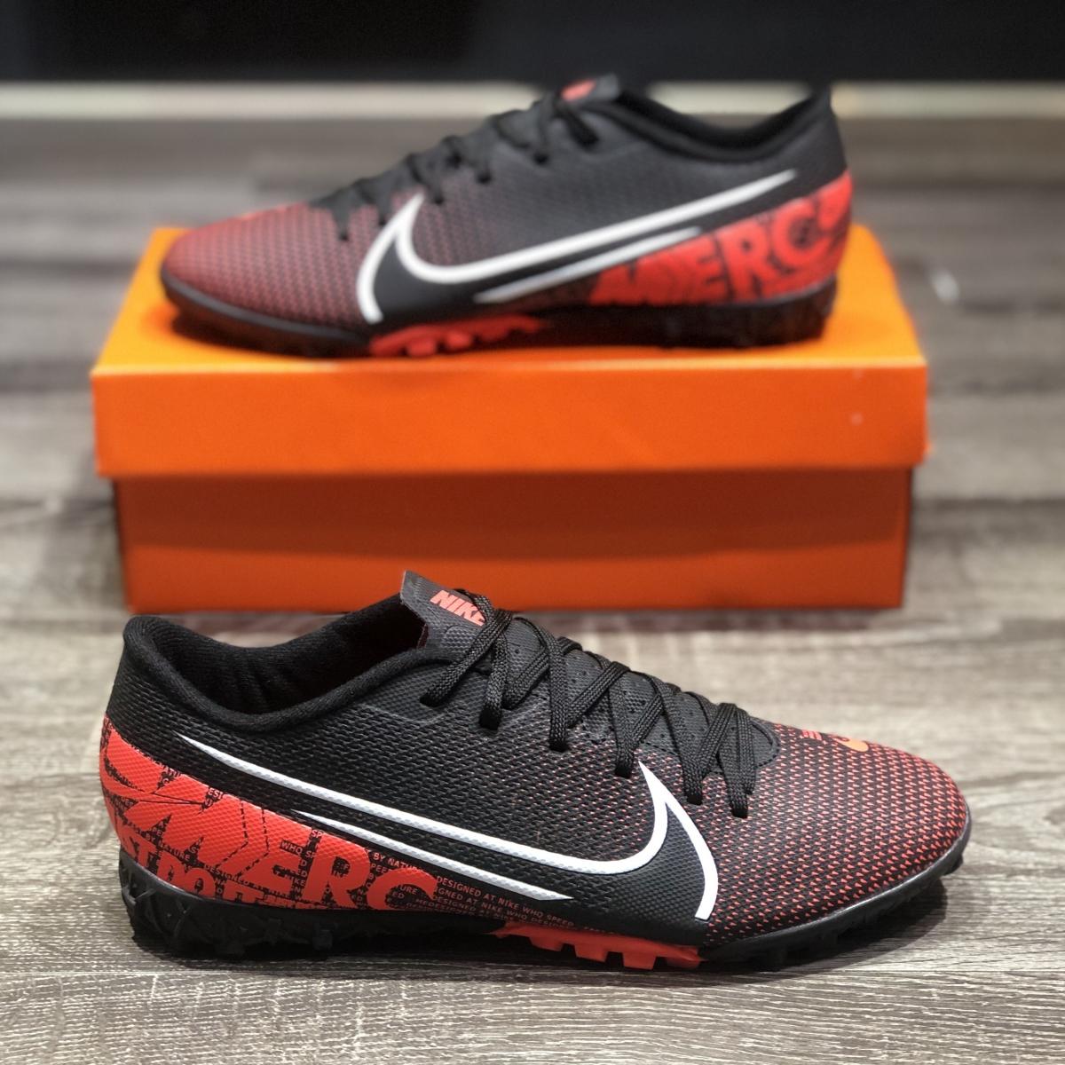 Giày Bóng Đá Nike Mercurial 13 Academy Đen Vạch Cam V2 TF