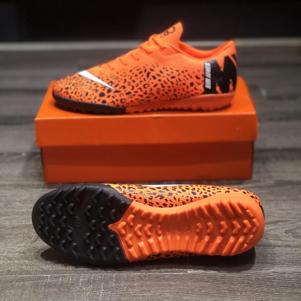 Giày Bóng Đá Nike Mercurial Academy CR7 Cam Đen Da Báo TF
