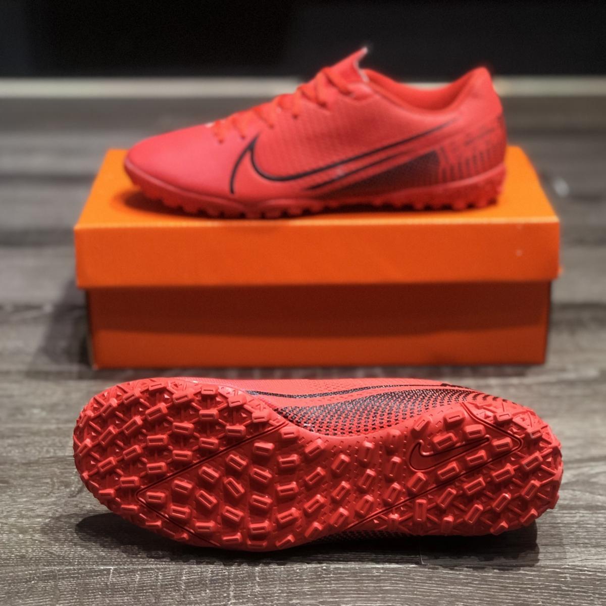 Giày Bóng Đá Nike Mercurial 13 Academy Đỏ Vạch Đen V2 TF