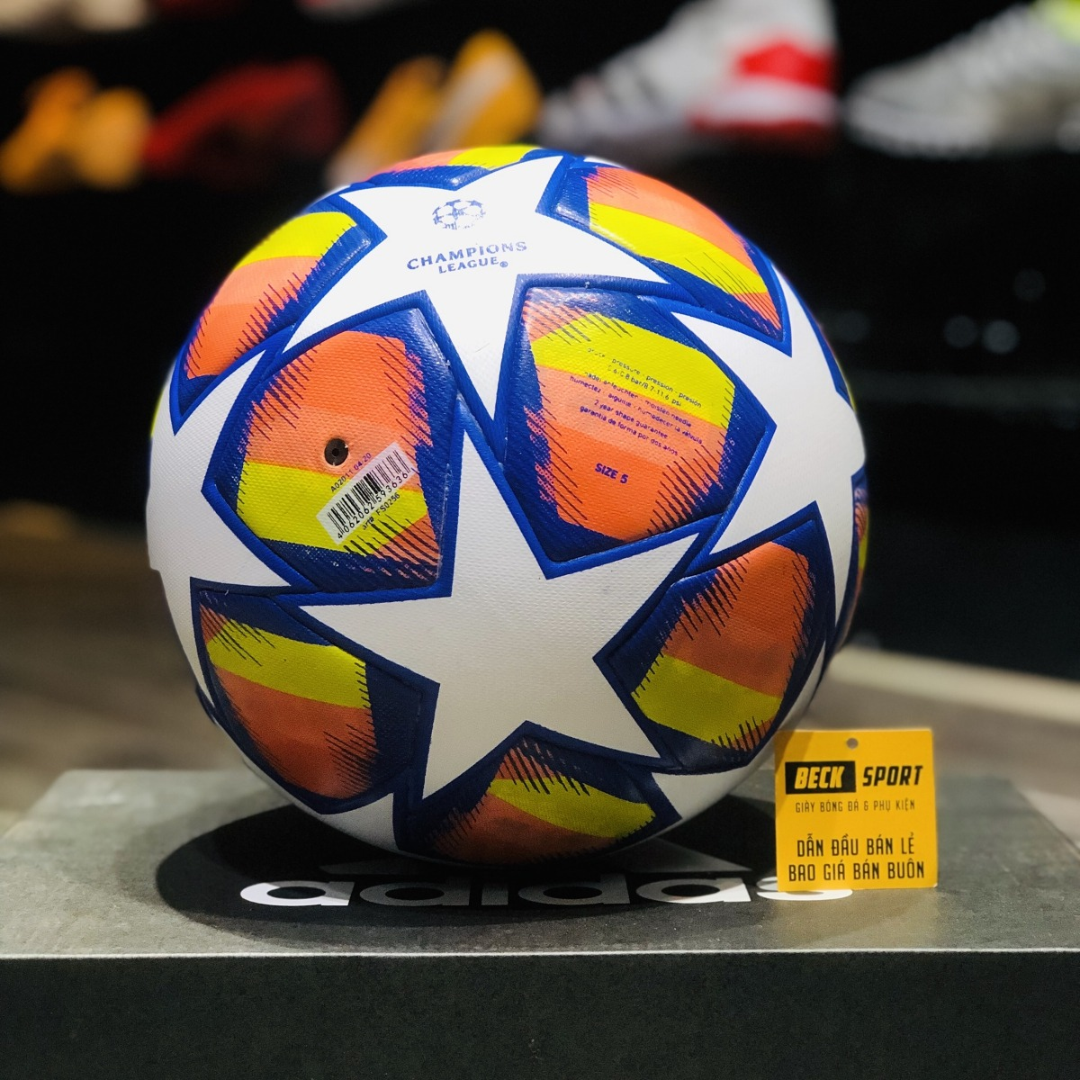 Quả Bóng Đá Adidas Champions League C1 Cam Trắng - Size 5