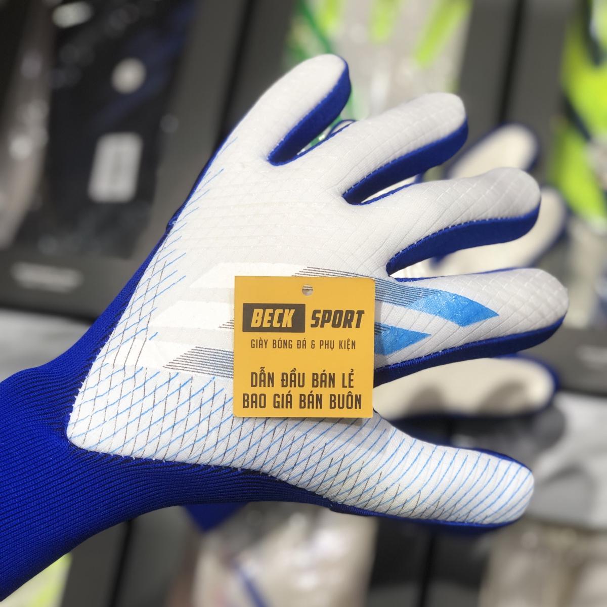Găng Tay Adidas X Pro Trắng Xanh Biển Vạch Đen (Không Xương)