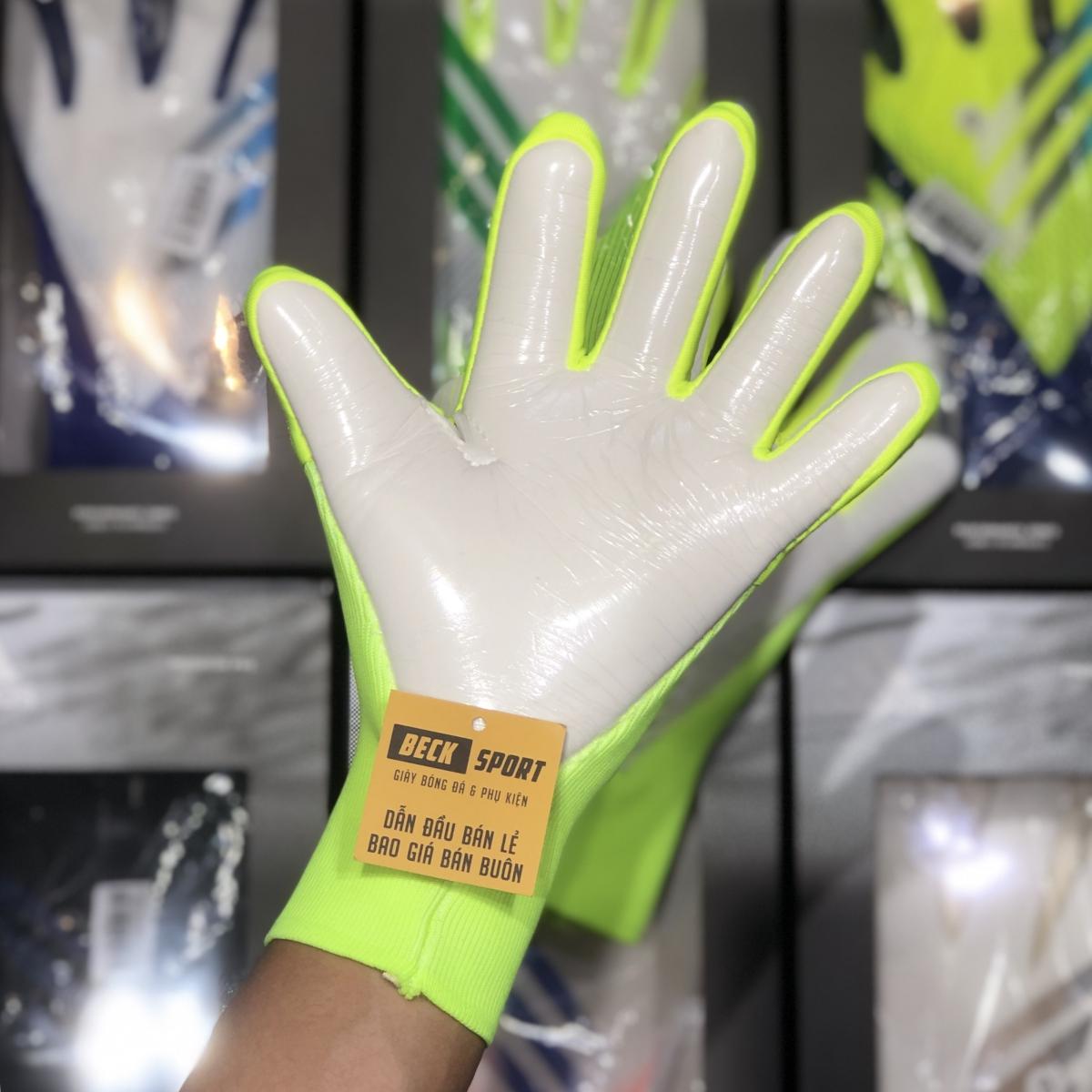 Găng Tay Adidas X Pro Trắng Nõn Chuối Vạch Đen (Không Xương)