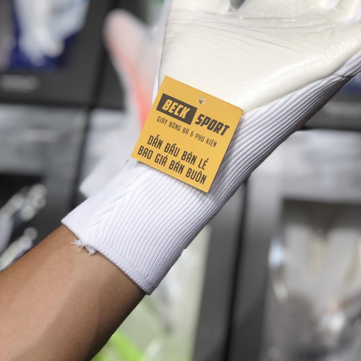 Găng Tay Adidas X Pro Trắng Cam Vạch Xanh Biển (Không Xương)