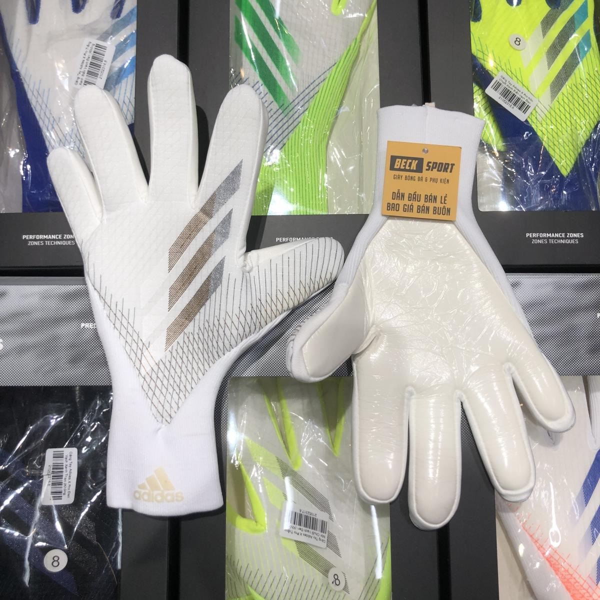 Găng Tay Adidas X Pro Trắng Vạch Đen (Không Xương)