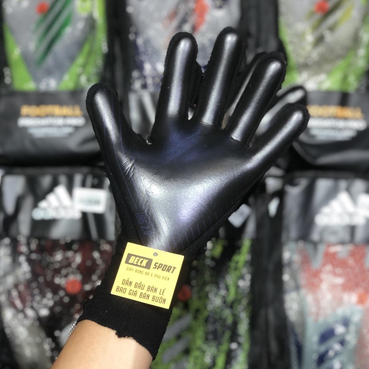 Găng Tay Adidas X Pro Xám Đen Vạch Xanh Biển HQ (Không Xương)