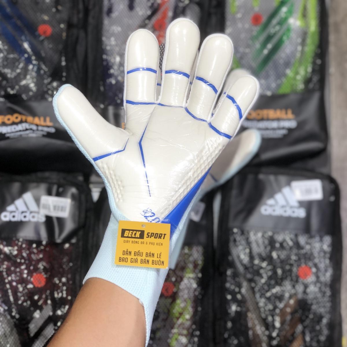 Găng Tay Adidas Predator 20 Pro PC Xanh Ngọc Cam Vạch Xanh Biển HQ (Không Xương )