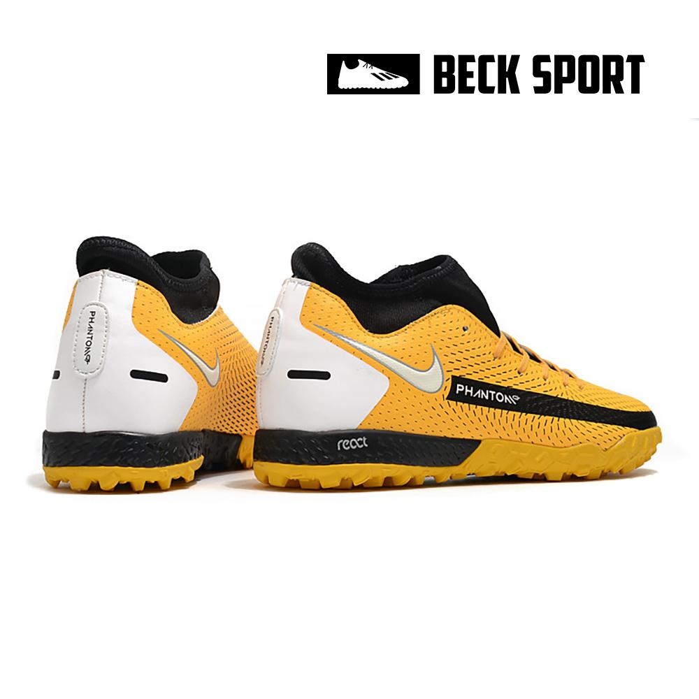 Giày Bóng Đá Nike Phantom GT Academy Vàng Vạch Đen Cổ Cao TF