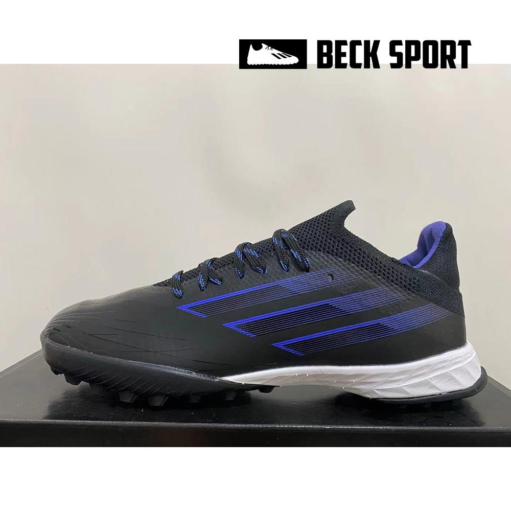 Giày Bóng Đá Adidas X Speedflow.1 Đen Vạch Xanh HQ TF
