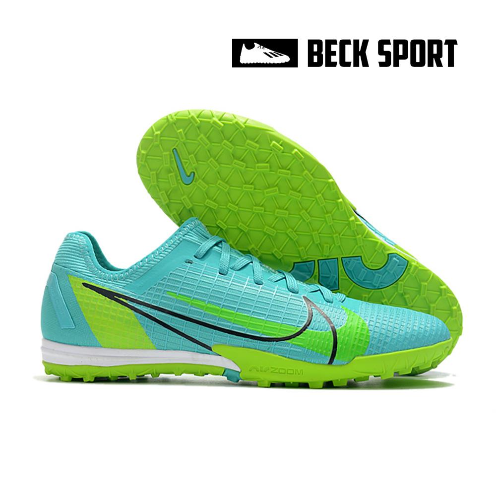 Giày Bóng Đá Nike Mercurial Vapor 14 Pro EURO Xanh Ngọc Cổ Lửng V2 TF