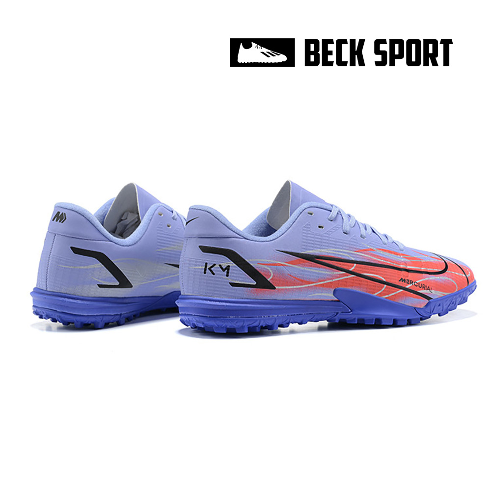 Giày Bóng Đá Nike Mercurial Vapor 14 Academy Mbappe Tím Cam Vạch Đen TF