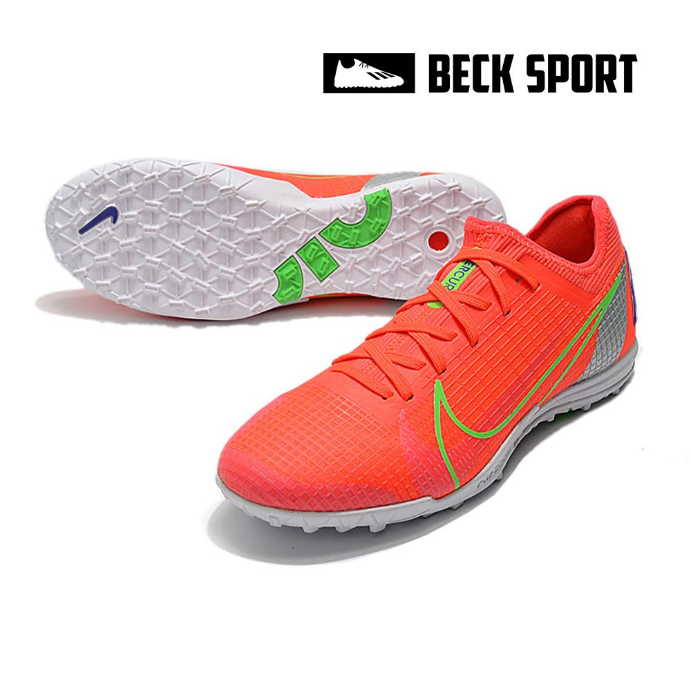 Giày Bóng Đá Nike Mercurial Vapor 14 Pro Đỏ Vạch Xanh Lá Cổ Lửng V2 TF