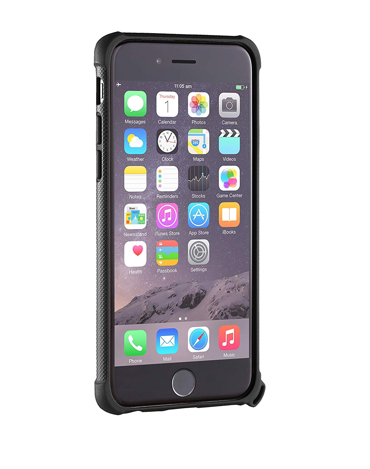 Roll over image to zoom in STM Dux Rugged Case for iPhone 6/6S - Black (stm-322-066D-01)