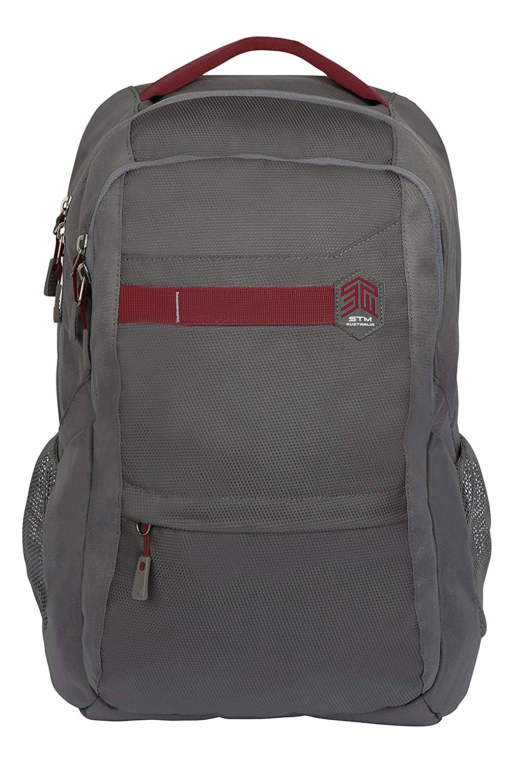 STM Trilogy Backpack for Laptops Up to 15-Inch - Granite Grey (stm-111-171P-16)