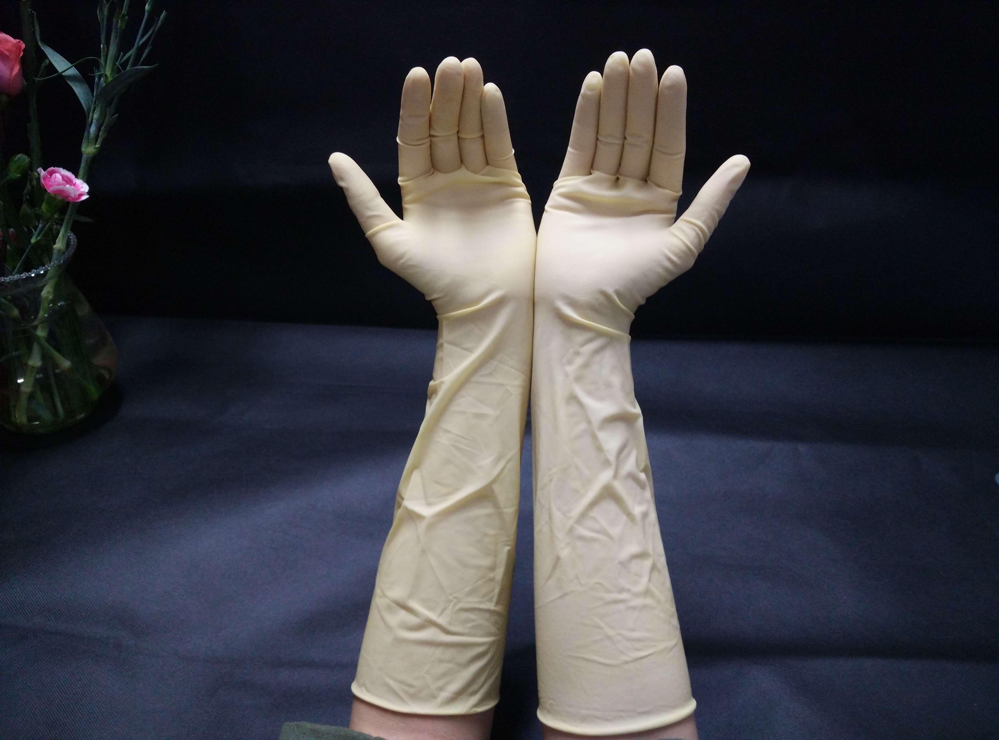 Găng tay cao su latex 9 inch, 12 inch, 16 inch