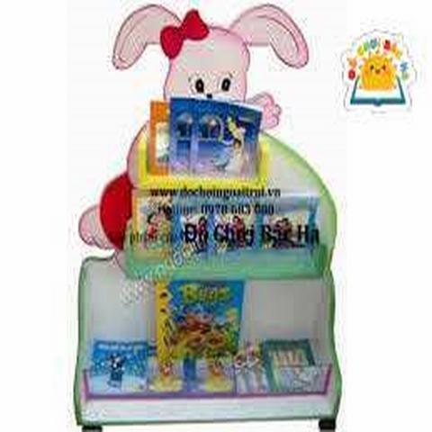 giá sách mầm non hình thỏ