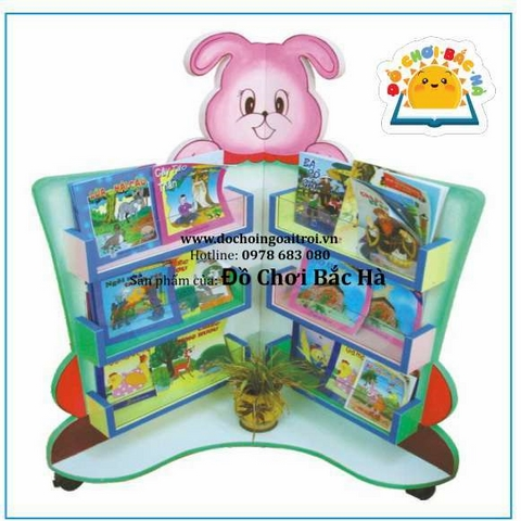 giá sách thư viện hình con thỏ